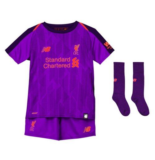 Kit da calcio per bambino Liverpool FC 2018-2019 Away