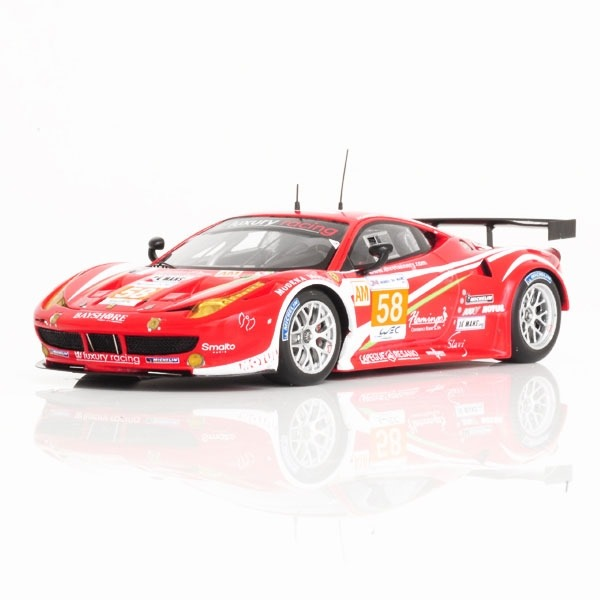 FERRARI 458 ITALIA GTE AM #58 TEAM LUXURY RACING 24H LE MANS 2012 FUJIMI