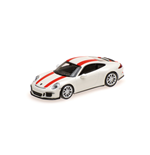 PORSCHE 911 R 2016 WHITE WITH RED STRIPES