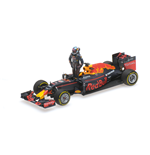 RED BULL RB12 D. RICCIARDO AUSTRIAN GP 2016 WITH FIGURINE