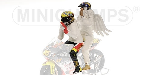 PILOTA VALENTINO ROSSI + ANGEL GP 250 RIO WORLD CHAMPION 1999