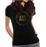 T-shirt Lord Of The Rings da donna - Design: Gold Foil Logo