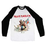 T-shirt Manica Lunga Iron Maiden - Raglan Baseball Trooper