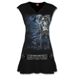 Spiral - Raven Queen Stud Waist Mini Black (vestito Donna )
