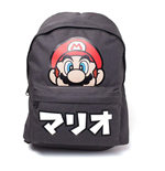 Zaino Nintendo - Super Mario Japanese Text Placed Printed Black