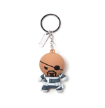 Portachiavi Marvel - Nick Fury Kawaii Rubber 3D Black