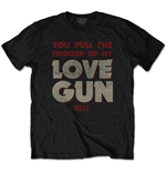 T-shirt Kiss da uomo - Design: Pull The Trigger