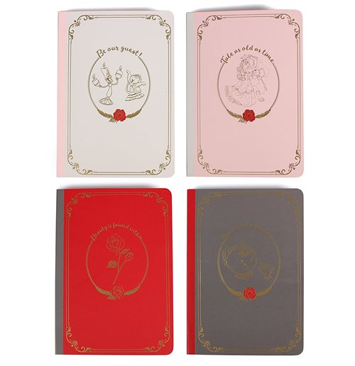Beauty & The Beast (Set 4 Quaderni A6)