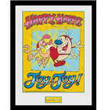 Ren & Stimpy - Happy Joy (Stampa In Cornice 30x40cm)