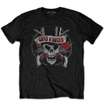 T-shirt Guns N' Roses da uomo - Design: Distressed Skull