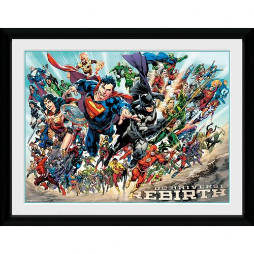 DC Universe Picture Rebirth 16 x 12 <br>Quadro Supereroi DC Comics