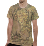 Lord Of The Rings - Middle Earth Map Sublimated (T-SHIRT Unisex )