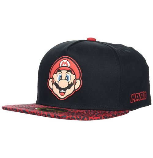 Nintendo - Super Mario Red Animal Print Snapback Multicolor (Cappellino)