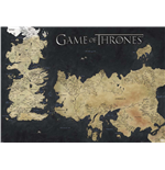 Game Of Thrones - Map Of Westeros & Essos (Poster 100X140 Cm)