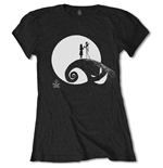 T-shirt Nightmare before Christmas da donna - Design: Moon