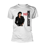 T-shirt Michael Jackson Bad White