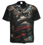 Spiral - Assassins Creed Iv Black Flag - Allover Licensed Black (T-SHIRT Unisex )