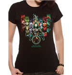 T-shirt Aquaman Movie da donna - Design: Unite The Kingdoms