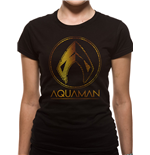 T-shirt Aquaman Movie da donna - Design: Metallic Symbol