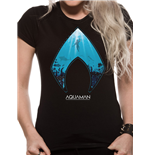 T-shirt Aquaman Movie da donna - Design: Logo And Symbol