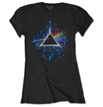 T-shirt Pink Floyd da donna - Design: Dark Side of the Moon Blue Splatter