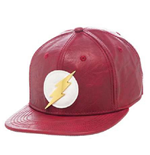 Flash (The) - Leather With Metal Bolt Snapback (Cappellino)