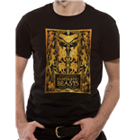 T-shirt Crimes Of Grindelwald - Design: Gold Foil Book Cover
