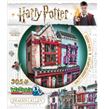 Wrebbit W3D-0509 - Harry Potter - Diagon Alley Quality Quidditch Supplies + Slug & Jiggers (Puzzle 3D 305 Pz)