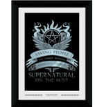 Supernatural - Wings (30Mm Black) (Stampa In Cornice 50x70 Cm)