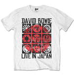 David BOWIE: Live In Japan White (T-SHIRT Unisex )
