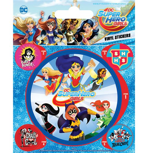 Dc Comics: Super Hero Girls - Attack (Adesivo 12,5X11 Cm)