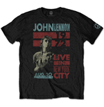 T-shirt John Lennon da uomo - Design: Live in NYC