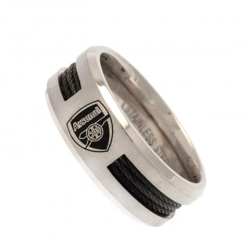 Anello Arsenal - misura L<br>Arsenal FC Black Inlay Ring Large CR