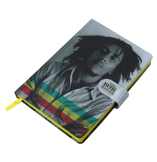 Bob Marley (Photo) A5 Fabric Notebook Cdu 10 (Quaderno)