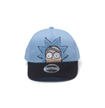 Rick And Morty - Rick Chenille 2D Embroidery Curved Bill Adjustable Blue (Cappellino)