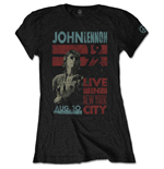 T-shirt John Lennon da donna - Design: Live in NYC