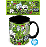 Rick And Morty (Quotes) Mega Mug (Tazza Termosensibile)