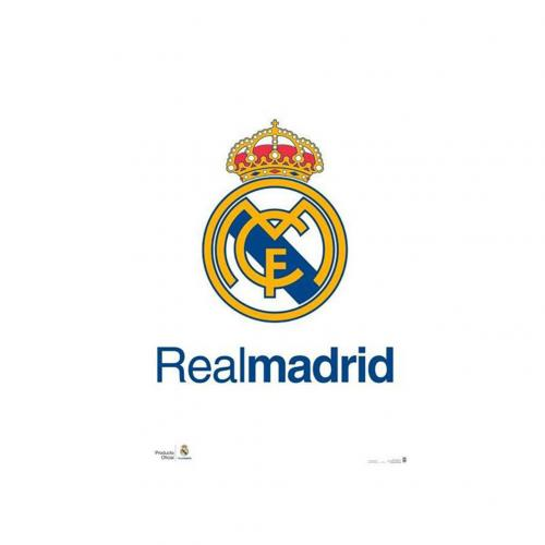 Poster Real Madrid<br>Real Madrid FC Poster Crest 2