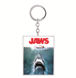 Jaws - Portachiavi 2D In Metallo Su Backercard 7,5X0,5X17,5 Cm