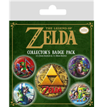 Nintendo: The Legend Of Zelda (Classics) Badge Pack (Pin Badge Pack)