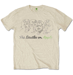T-shirt The Beatles da uomo - Design: Outline Faces on Apple