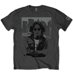 T-shirt John Lennon da uomo - Design: Denim Skyline