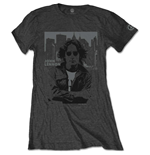 T-shirt John Lennon da donna - Design: Denim Skyline