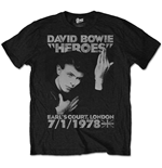 David BOWIE: Heroes Earls Court Black (T-SHIRT Unisex )