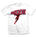 MARVEL: Daredevil Logo Bianco (T-SHIRT Unisex )