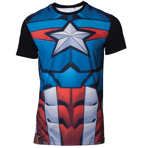 MARVEL: Sublimated Captain America Multicolor (T-SHIRT Unisex )