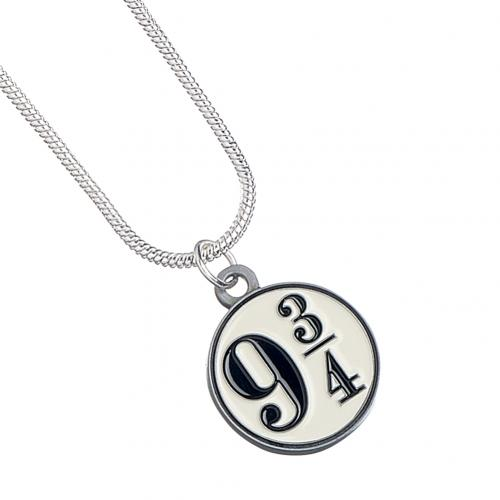Gioiello Harry Potter <br>Collana Harry Potter placcato in argento 9 & amp; 3 quarti