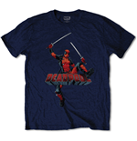 DEADPOOL: Logo Jump Blue (T-SHIRT Unisex )