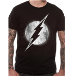 Dc COMICS: Flash (THE): Logo Mono Distressed (T-SHIRT Unisex )