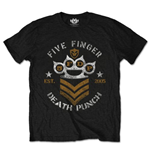 Five Finger Death PUNCH: Chevron Black (T-SHIRT Unisex )